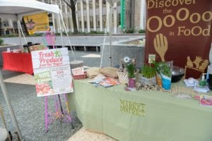 Fresh local produce available at Market Square