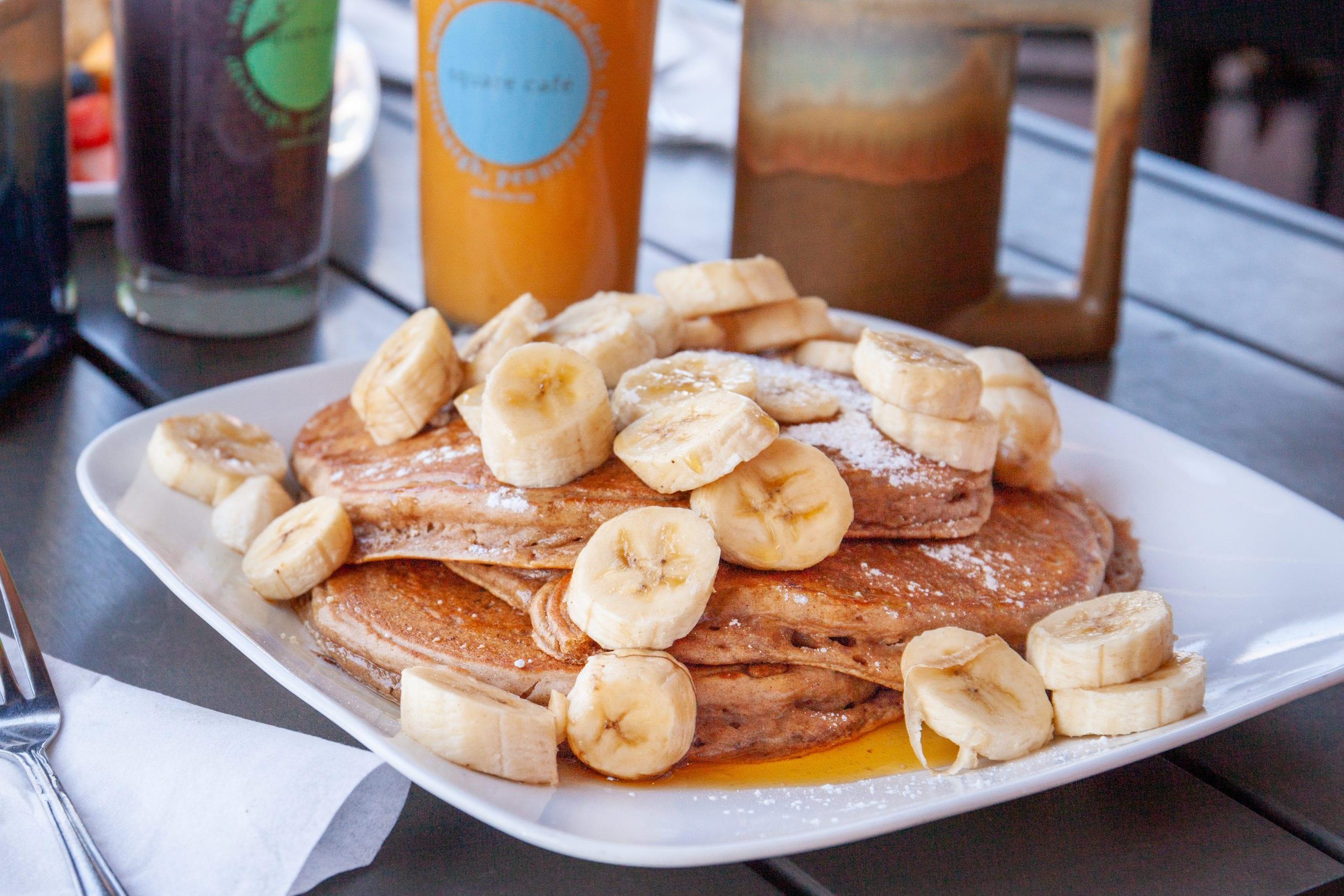 Square Cafe's Vegan Banana Pancakes