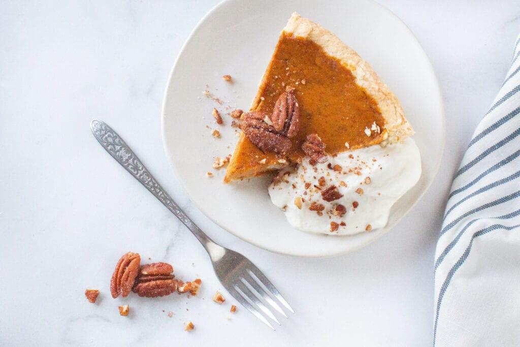 Homemade Vegan Pumpkin Pie