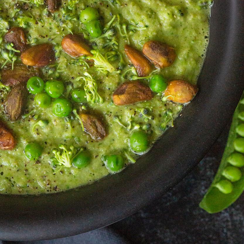 Springtime Broccoli Pea Soup