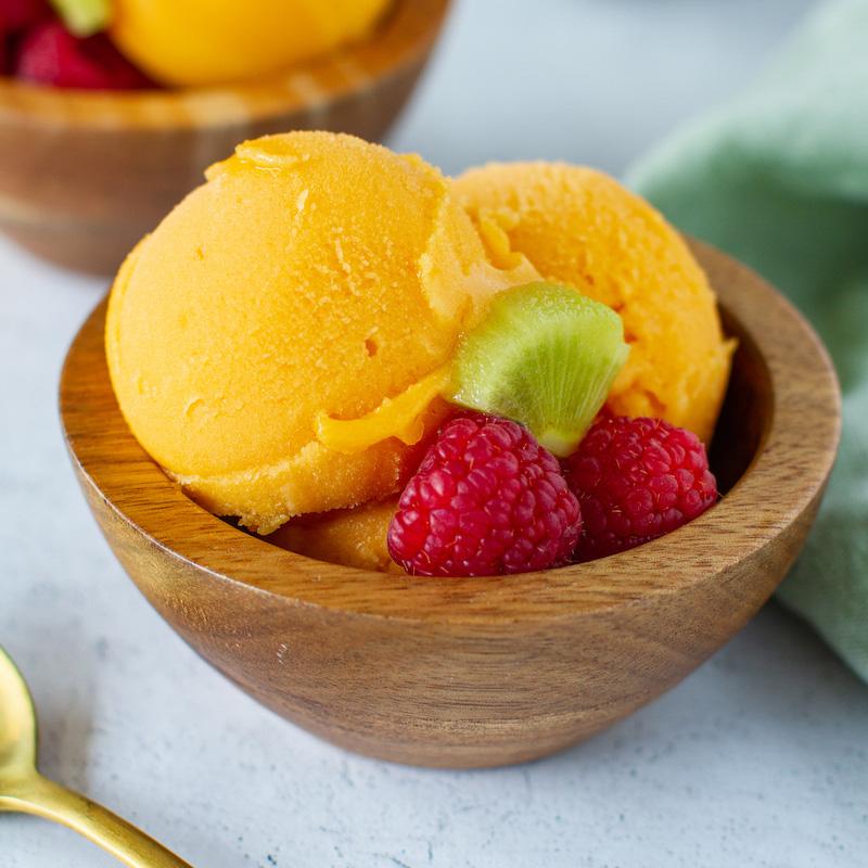 3-Ingredient Vegan Mango Sorbet